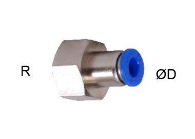 MODEL PN-GFCP PUSH IN FITTINGS FEMALE THREAD