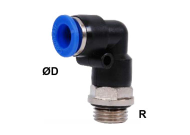 MODEL PN-GLP ELBOW PUSH IN MANIFOLD MALE FITTING ROTARY