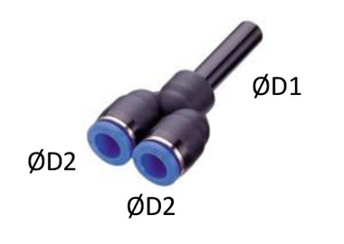 MODEL PN-JYP PLUG IN Y TYPE FITTING