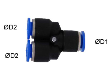 MODEL PN-W1P PUSH IN Y TYPE REDUCER FITTING